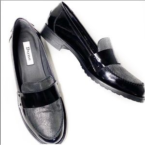 Dune London GRANADA Black Leather loafers …